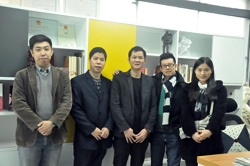 协会赴广州灵气灵吧企业形象设计有限公司实地调研
